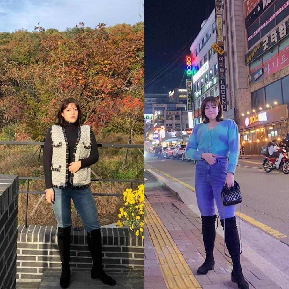 Thánh ăn Hàn Quốc từng nặng 130kg nay đã khác, vòng 2 phẳng lì, đôi chân giống hệt Miu Lê - 7