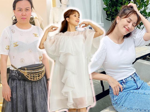 Áo trắng mỏng tang muôn đời làm khó sao Việt, riêng Khánh Thi khoe ngực đầy vẫn đẹp tinh tế