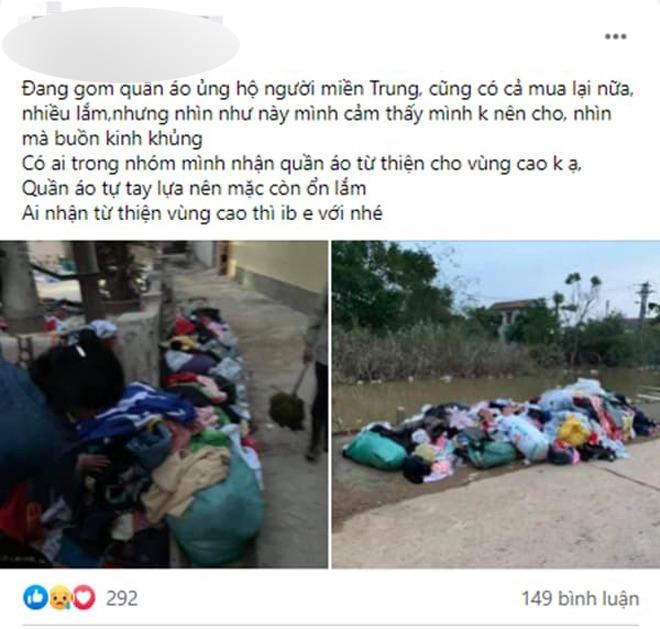 Quần áo từ thiện chất thành đống không ai nhận: CĐM tranh cãi, dân miền Trung lên tiếng - 1