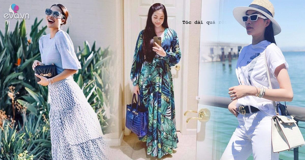 Đăng hình than tóc quá dài chỉ là phụ, Phạm Hương khoe túi hiệu 2 tỷ mới là chính