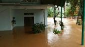 Cuồng phong bão số 9 quét qua, nhiều nơi ở Bình Định bị lũ bao vây, nước chảy như thác