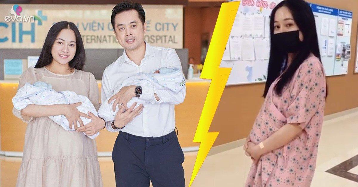 Sinh đôi con đầu lòng, Sara Lưu thăng hạng nhan sắc nhưng vòng bụng lớn làm ông xã ngơ ngác