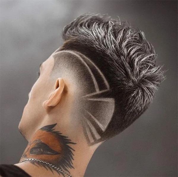 Những kiểu tatoo tóc nam đẹp đơn giản chất nhất hiện nay - 7