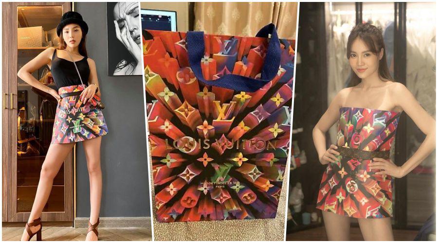 Loạt mỹ nhân biến tấu trang phục lạ đời: quần dài hoá đầm ôm, áo khoác thành chân váy - 4