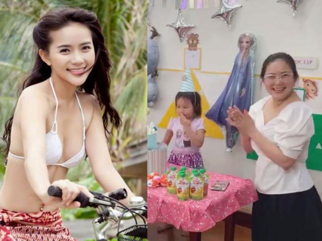 Đến trường mẫu giáo làm sinh nhật con, Phan Như Thảo bực mình khi bị nói già như bà cháu