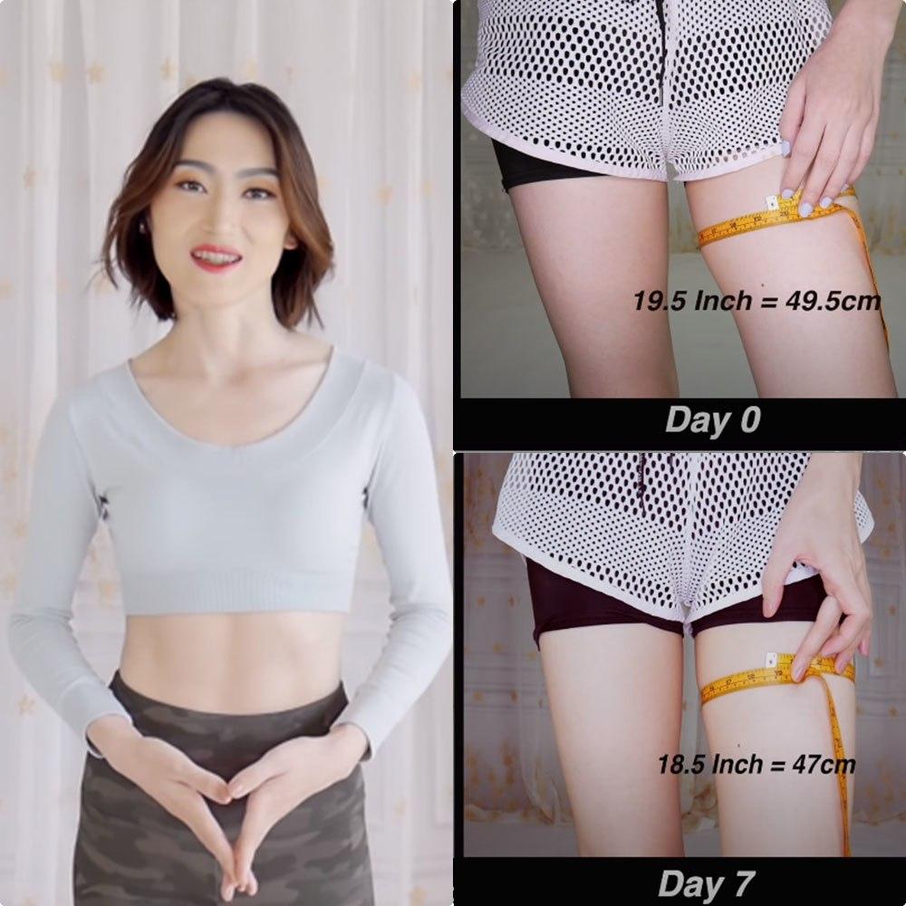 Chẳng cần đi gym, tự tập ở nhà, mẹ 1 con giảm liền 3cm mỡ đùi chỉ trong 7 ngày - 1