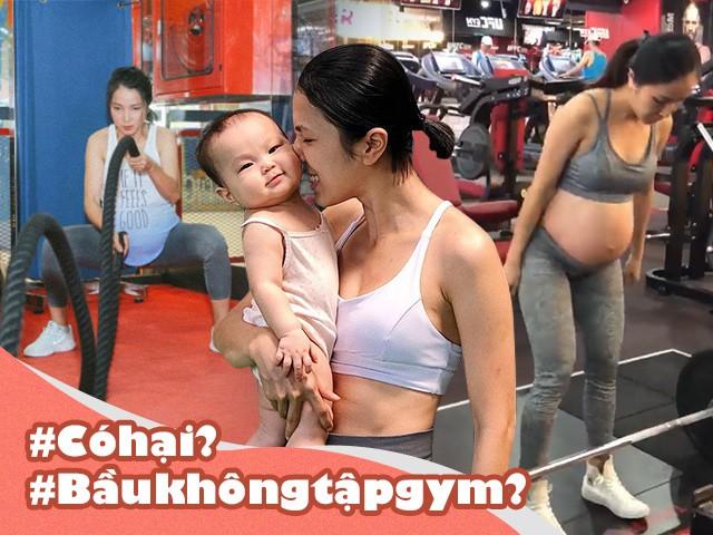 Bụng bầu vượt mặt, mẹ trẻ vẫn chăm gánh tạ, đập tan định kiến mang thai không được tập gym