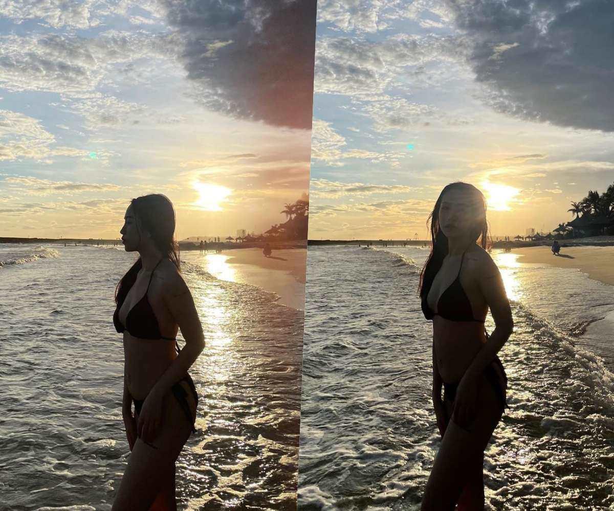 Hiếm hoi ái nữ Minh Nhựa diện bikini khoe dáng sau sinh, hút bộn like không thua amp;#34;mẹ kếamp;#34; - 3