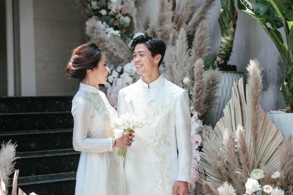 Là tiểu thư nhà giàu, vợ Công Phượng chỉ diện toàn váy áo đơn giản trong ngày cưới - 7