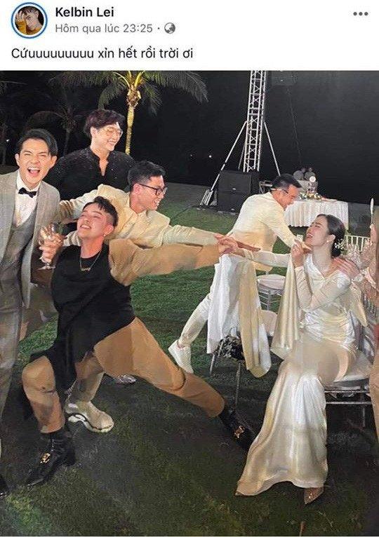 Sao Việt amp;#34;tả tơiamp;#34; trong đám cưới: Người rách váy, kẻ bị lột đồ vẫn không bằng Đông Nhi - 4