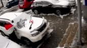 Clip: Bê tông rơi xuống đè nát ô tô, người đàn ông thoát chết khó tin