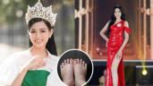 """Chân dài mướt mải 1m1 nhưng Tân Hoa hậu Đỗ Thị Hà lại có """"bàn chân Cám"""""""