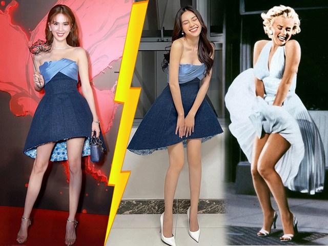 Cùng 1 bộ váy, Ngọc Trinh bị chỉ trích mặc sai dresscode, Lan Ngọc lại được khen ngợi hết lời