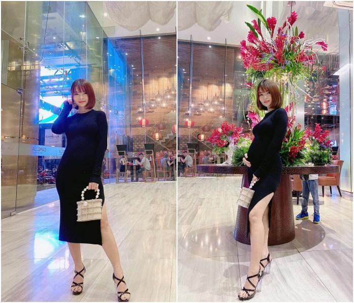 Hết mang giày cao lênh khênh, bạn gái Mạc Văn Khoa lại mê diện đồ ôm sát khi mang bầu - 3