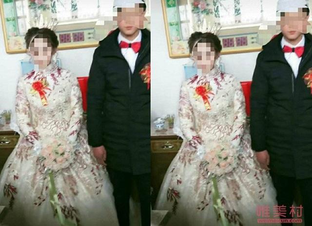 Chú rể 18 tuổi bỏ học cưới vợ, biết danh tính và tuổi tác cô dâu càng thêm sốc nặng -anh 2
