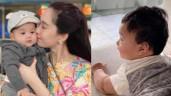 """Diện mạo """"soái ca"""" của con trai Đặng Thu Thảo làm bố Trung Tín lo lắng, sợ bị """"tuột hạng"""""""