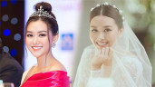 """Lấy chồng gia thế khủng, Á hậu Tường San bật mí: """"Váy cưới của tôi không đính kim cương"""""""