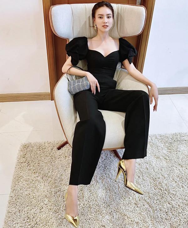 Lan Ngọc thả nhẹ đường cong với toàn váy đen tối giản vẫn đẹp nức nở - 8