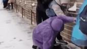 Tranh cãi việc khách trượt ngã khi du lịch Vạn Lý Trường Thành lúc tuyết rơi