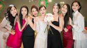 """Hoa hậu Tiểu Vy và á hậu Thuý An đi ăn cưới: mặc váy """"chặt chém"""" cô dâu Tường San"""