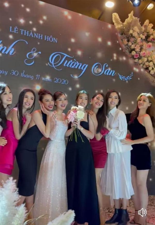 """Hoa hậu Tiểu Vy và á hậu Thuý An đi ăn cưới: mặc váy """"chặt chém"""" cô dâu Tường San - 3"""