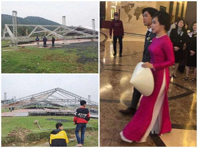 Đám cưới to nhất làng của Công Phượng: Viên Minh vẫn xinh nhưng lại cầm nón che bụng