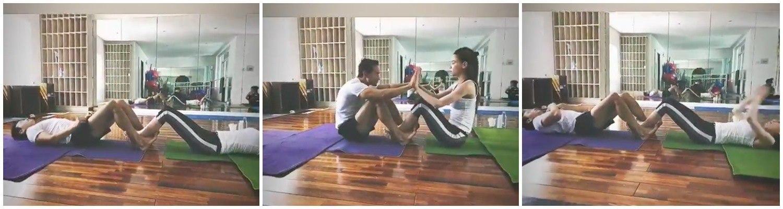 Hội nam thần Vbiz tập gym giảm cân có múi, riêng Kim Lý rèn body vì lí do cao cả - 10