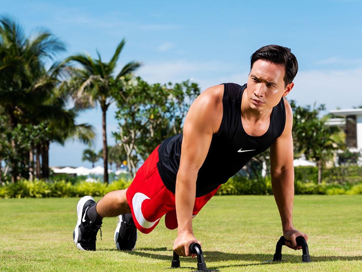 Hội nam thần Vbiz tập gym giảm cân có múi, riêng Kim Lý rèn body vì lí do cao cả - 11