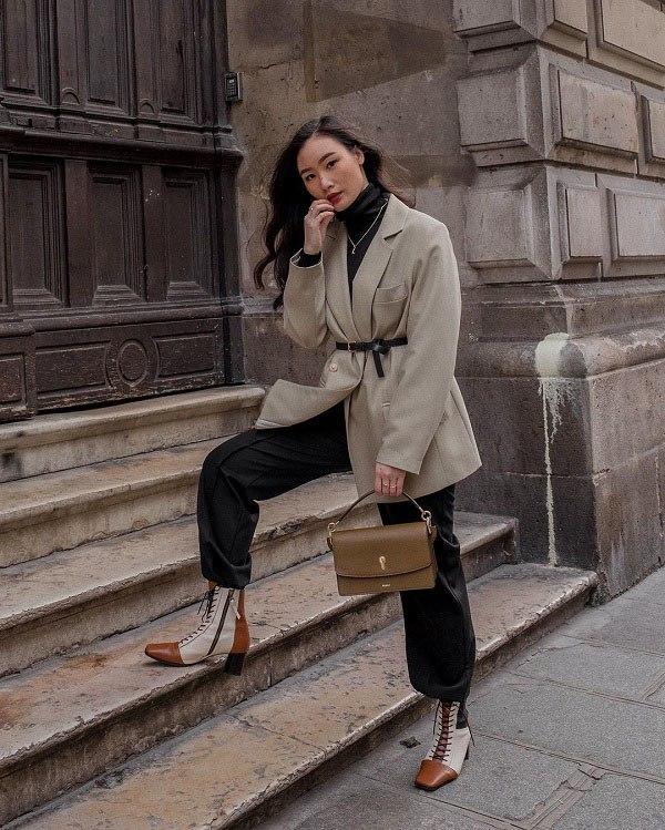 Kết hợp blazer với 4 kiểu áo này, nàng mặc đơn giản mấy cũng đẹp bất chấp trong mùa lạnh - 3