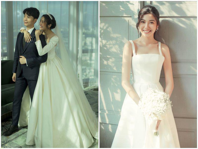 """Mặc lại váy cưới 2 triệu, Viên Minh """"lên đồ"""" chuẩn dâu xứ lạnh: trùm áo lông, mang vớ dày - 16"""