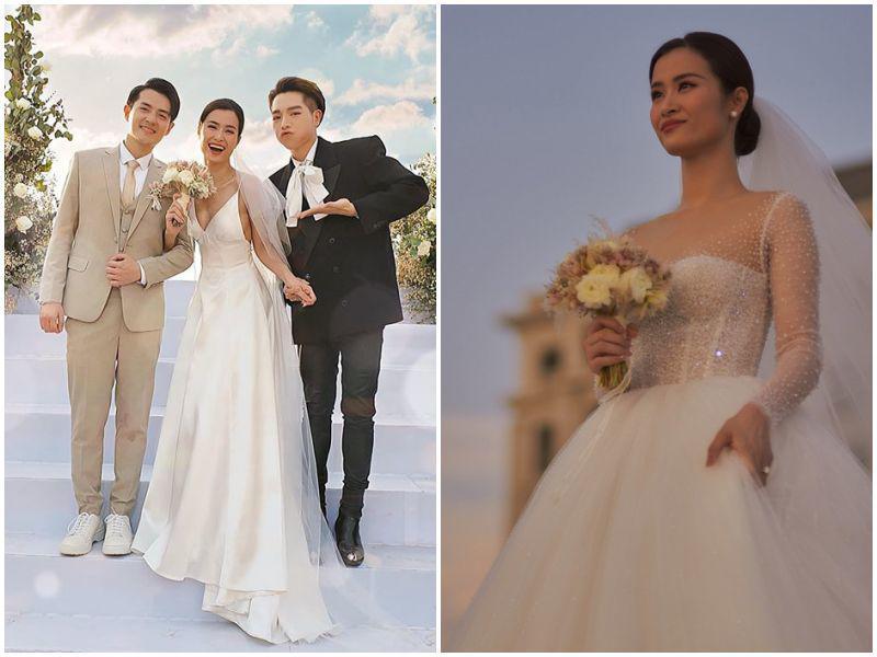 """Mặc lại váy cưới 2 triệu, Viên Minh """"lên đồ"""" chuẩn dâu xứ lạnh: trùm áo lông, mang vớ dày - 14"""