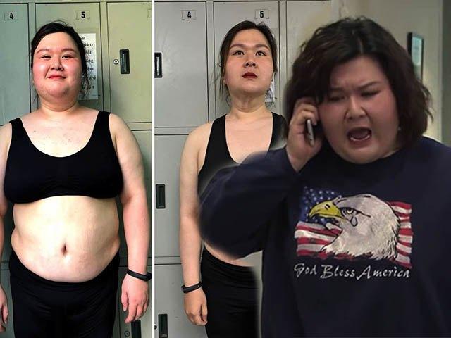 Hút mỡ bất thành, hotgirl trăm ký Về nhà đi con tự thân giảm cân: da chùng nhão thấy thương