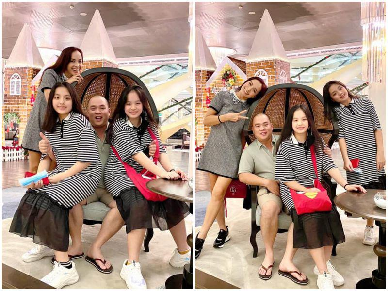 Khoe ảnh gia đình, Thuý Hạnh tự nhận nhỏ nhất nhà: hai con lớn phổng phao xinh như hoa hậu - 3