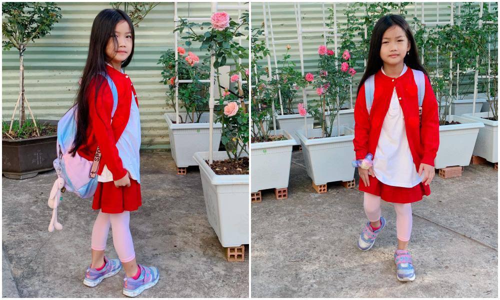 Con gái Ốc Thanh Vân đến trường diện đồng phục chất ngất: mang tất cọc cạch, đi giày cao gót - 10