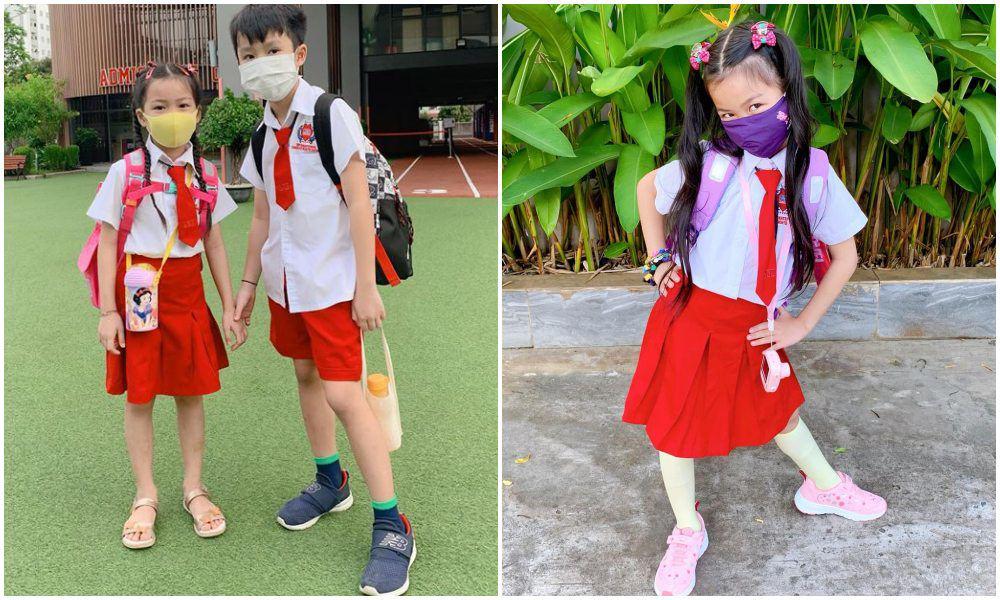 Con gái Ốc Thanh Vân đến trường diện đồng phục chất ngất: mang tất cọc cạch, đi giày cao gót - 7