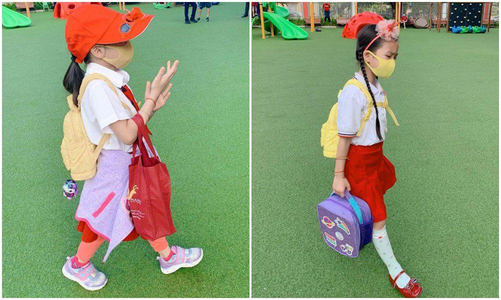 Con gái Ốc Thanh Vân đến trường diện đồng phục chất ngất: mang tất cọc cạch, đi giày cao gót - 8
