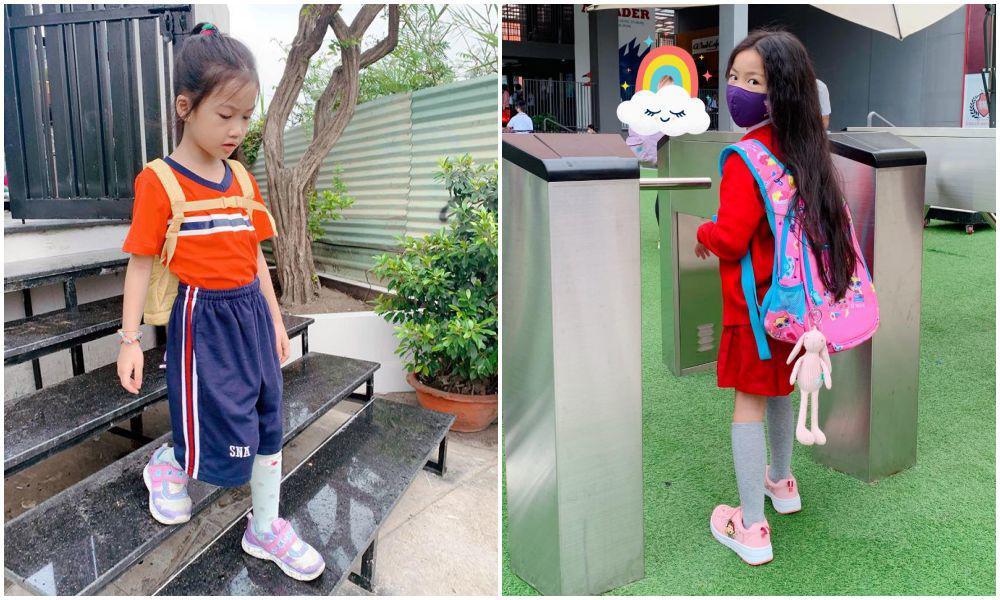 Con gái Ốc Thanh Vân đến trường diện đồng phục chất ngất: mang tất cọc cạch, đi giày cao gót - 6