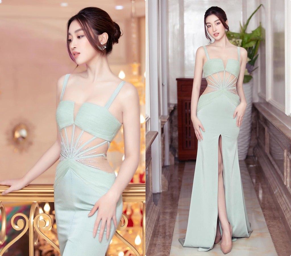 Hết nhiệm kỳ, 2 Hoa hậu nổi tiếng ngoan hiền nhất Vbiz đều amp;#34;xả vaiamp;#34;, mê váy áo hở bạo - 4
