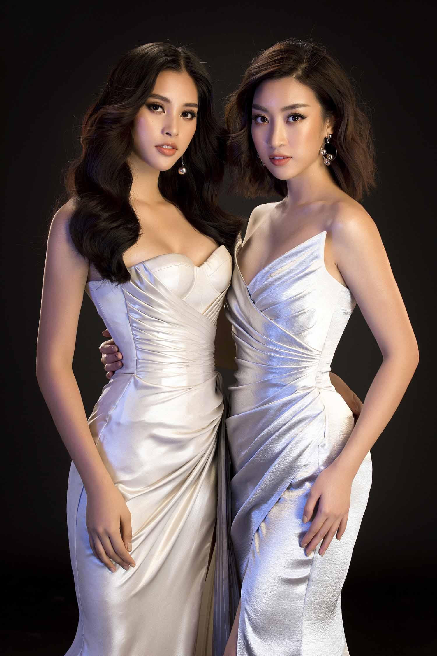 Hết nhiệm kỳ, 2 Hoa hậu nổi tiếng ngoan hiền nhất Vbiz đều amp;#34;xả vaiamp;#34;, mê váy áo hở bạo - 1