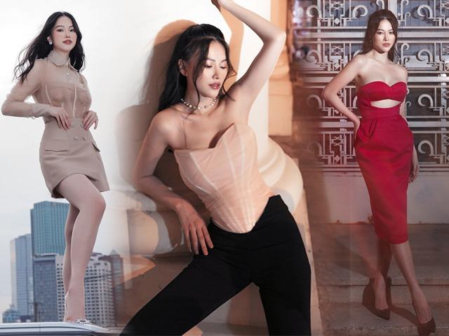 Hoa hậu Phương Khánh diện áo corset khoe số đo body triệu đô, đố ai ngắm mà không say