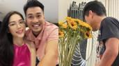 Yêu hot girl, em chồng Tăng Thanh Hà tự tay gội đầu, rửa xe, cắm hoa cho bạn gái