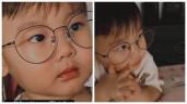 Không phải làm điệu, con trai Hoà Minzy 2 tuổi đã cần đeo kính xem tivi, Ipad, giá 1 triệu/cái