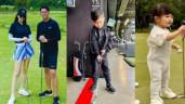 Con gái Cường Đô La hơn 1 tuổi đã ra sân golf, con trai Đan Trường có bộ gậy riêng
